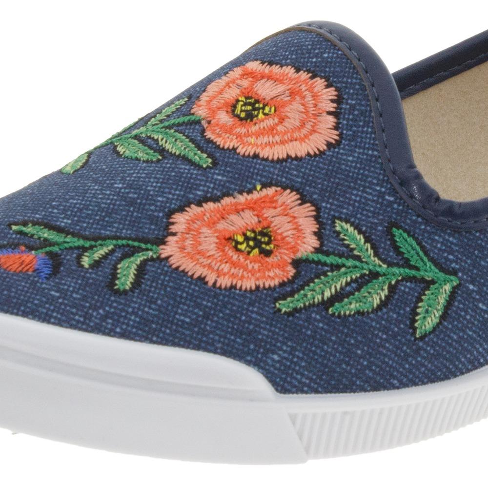 a31d7b693 sapatilha feminina slipper jeans moleca - 5109438. Carregando zoom.