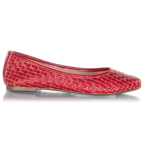 880b9339f4 Sapato Baixinho Via Uno Feminino - Sapatos para Feminino Vermelho no  Mercado Livre Brasil