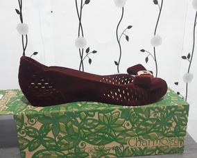 4248bcb4b Charmosa Chic Flocada - Sapatos no Mercado Livre Brasil