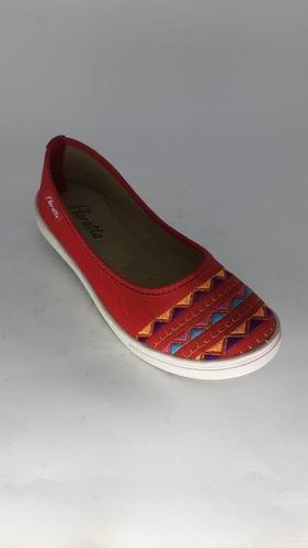 sapatilha floratta vermelho