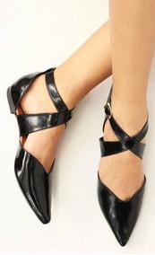 2c4992080 Sapatilha Bico Fino E Tiras De Amarrar - Sapatos no Mercado Livre Brasil