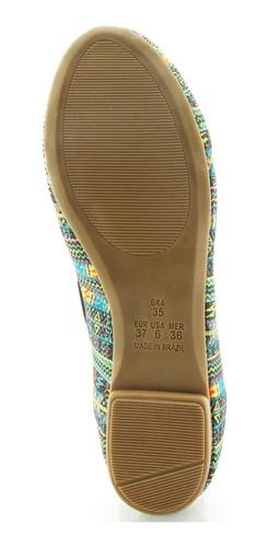 sapatilha glamm laço étnica multicolorida sapatos mania