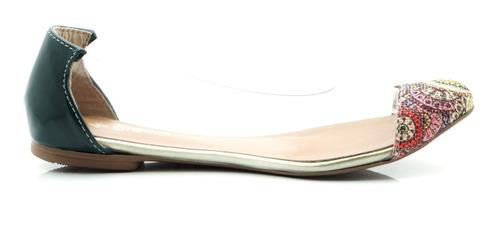 sapatilha glamm vinil étnica verde sapatos mania