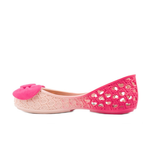sapatilha grendene hello kitty com top em glitter rosa