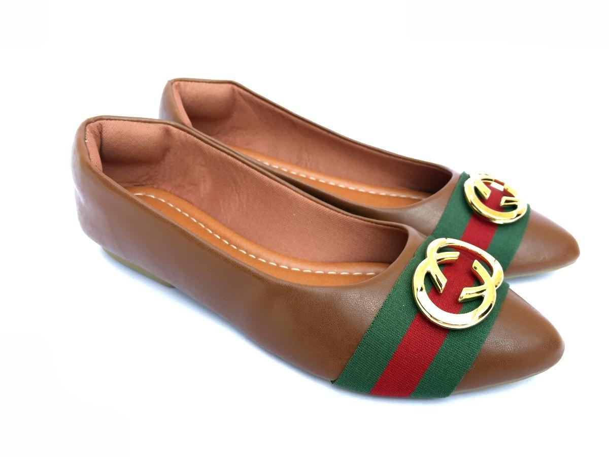 Sapatilha Gucci Luxo Bico Fino Calçados Femininos - R  79,90 em ... d524c36234