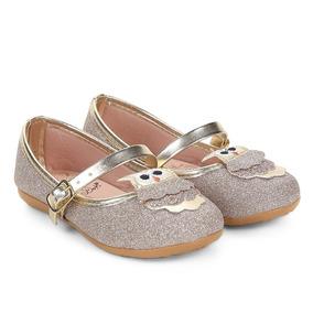 8a0ee759b2 Sapatilha Dourada Glitter Bicuda Meninas Sapatilhas Bibi - Sapatos ...