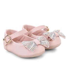 723058149e Sapatilha Infantil Klin Princess Laço Strass Feminina