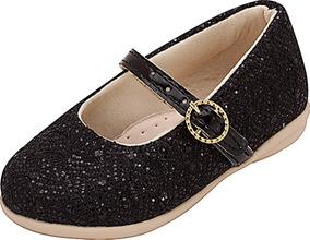 94366f8fb0 Sapatilha Infantil Menina Plis Calçados Glitter Preta 113
