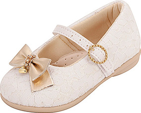 36bf9b63ee Sapatilha Infantil Menina Plis Calçados Renda Branca 115