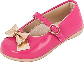 56bf20e3fa Sapatilha Infantil Menina Plis Calçados Verniz Pink 138 · R  37