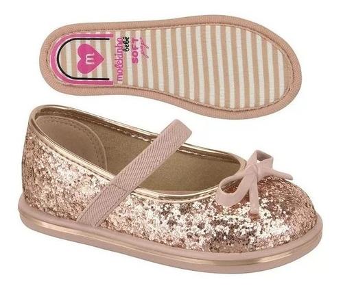 sapatilha infantil meninas molekinha  maxxi glitter 2132102