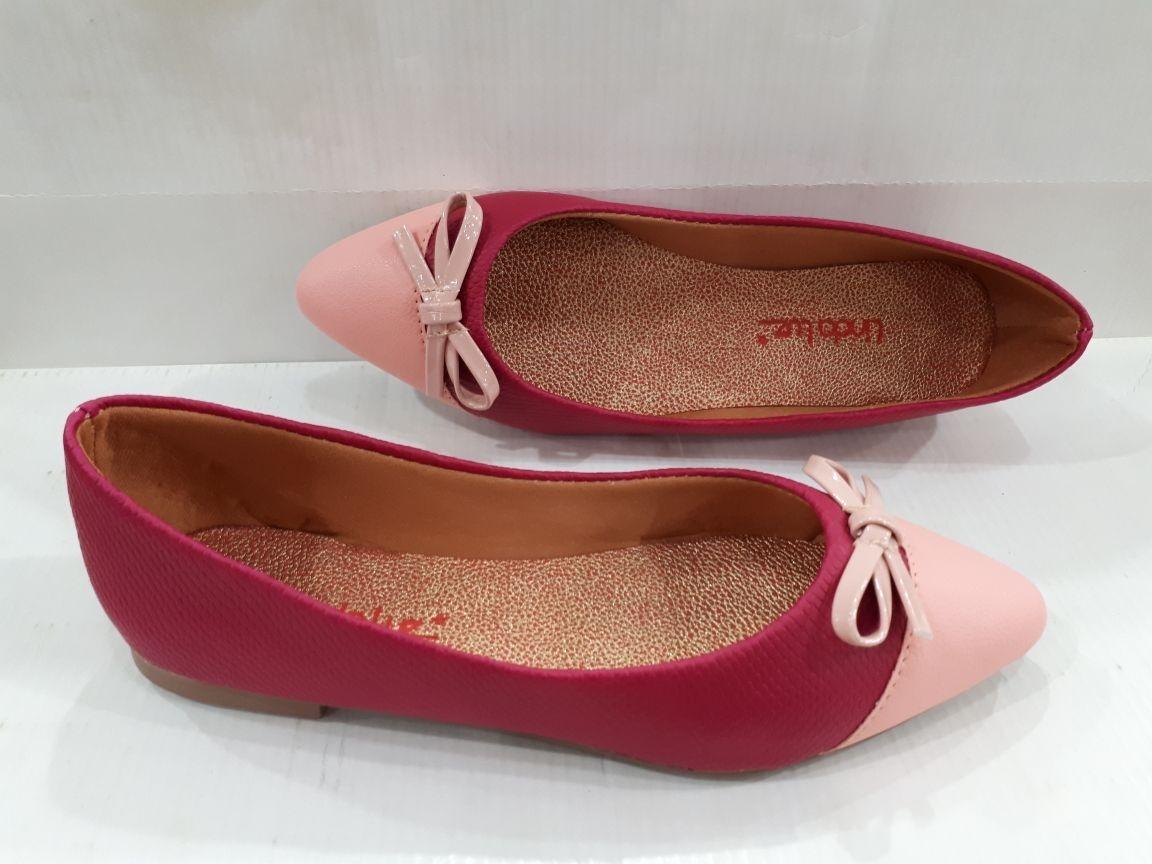 826dadf6f96 sapatilha linda luz pink e rosa com laço sola emborrachada. Carregando zoom.