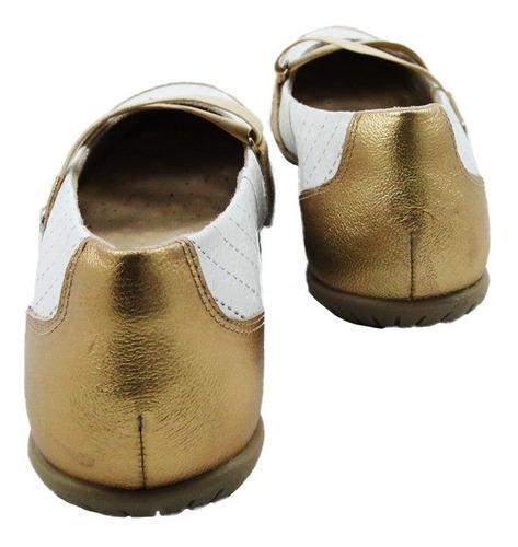 sapatilha malu super comfort couro bco dour desirre 32057-46