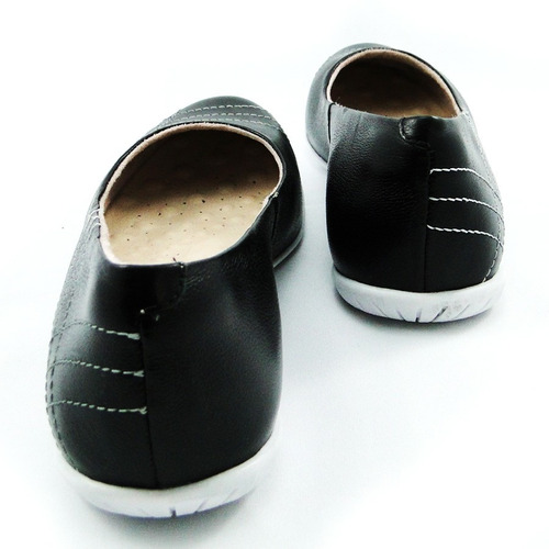 sapatilha malu super comfort couro desirre s&c - 32074-23