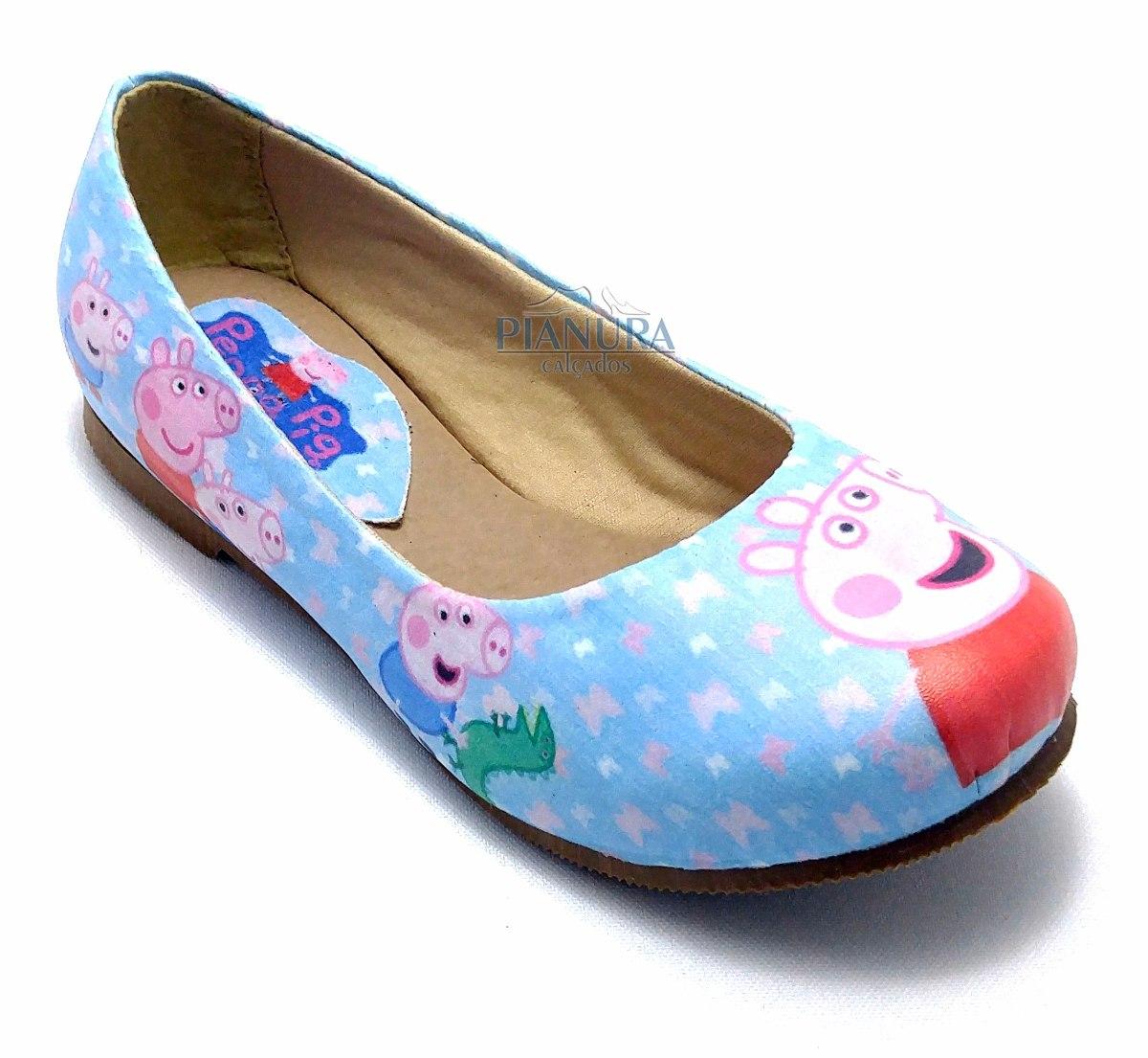 067040796f Kit Sapatilha Infantil Menina Peppa Pig Com Bolsa - R  64