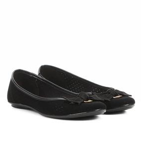 53639dd38 Sapatilha Moleca Laço Furinhos Preta - Sapatos no Mercado Livre Brasil