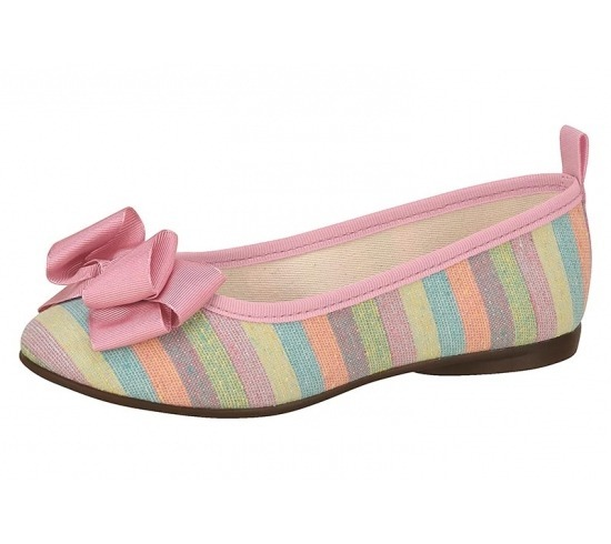 61bbfe5100 Sapatilha Molekinha Infantil Listras Coloridas - R  59