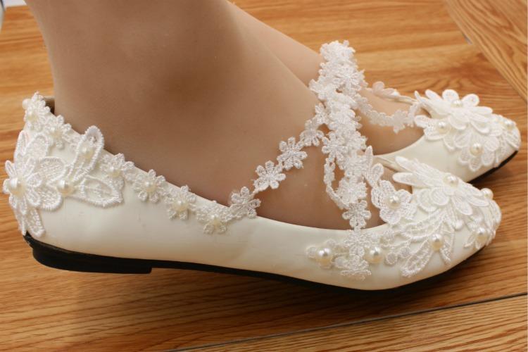 dcb86943e Sapatilha Noiva Branca Personalizada Renda Delicada - R$ 239,00 em ...