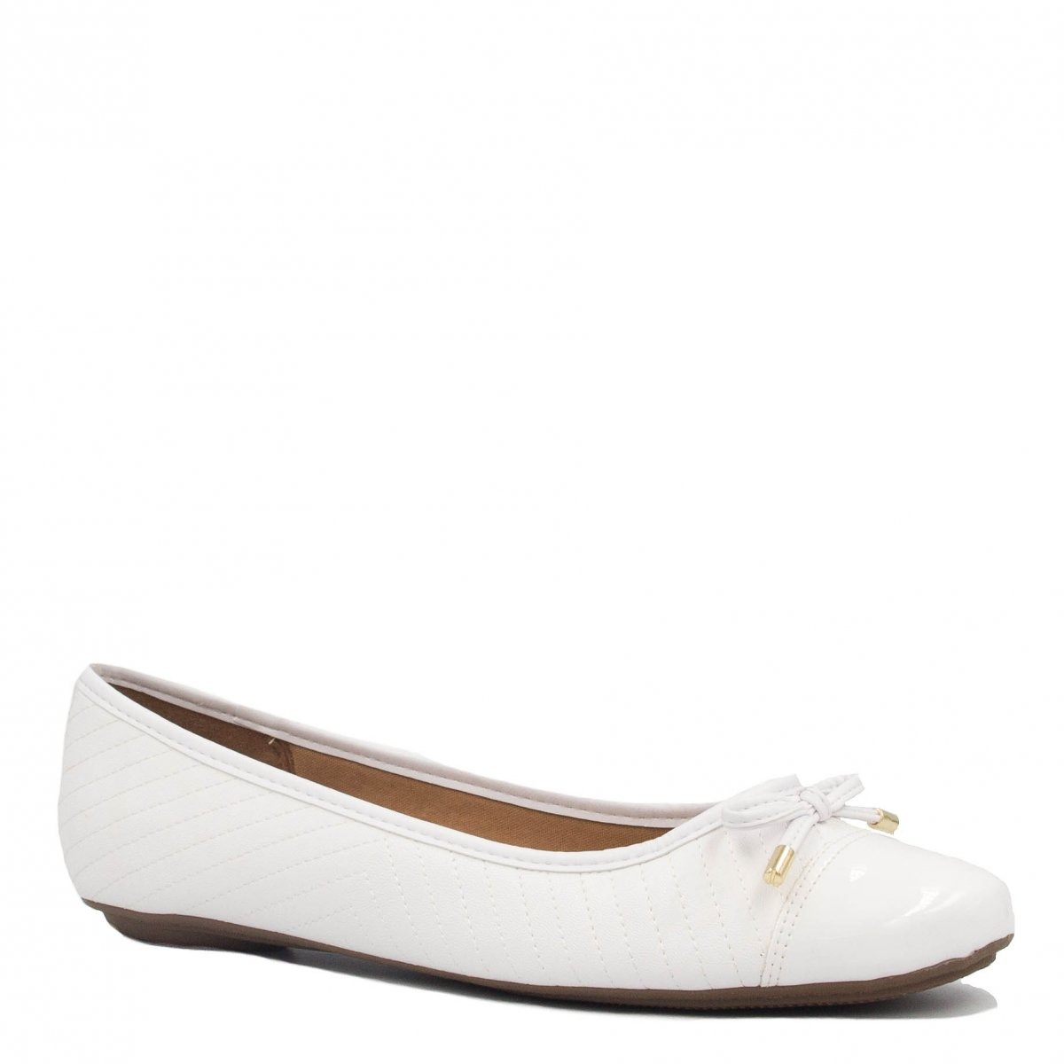 72f5a9491c sapatilha noiva vizzano captoe verniz laço branco 1155.149. Carregando zoom.