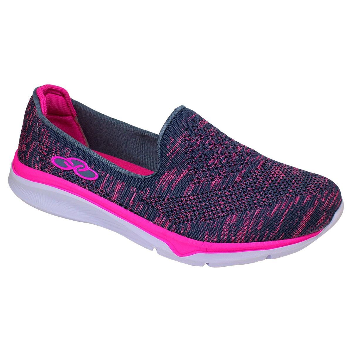 a56138e1fc sapatilha olympikus princess 396 cinza pink. Carregando zoom.