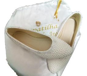 1aa7132a5 Sapatilha Baixa Para Noiva Com Strass Feminino - Calçados, Roupas e Bolsas  com o Melhores Preços no Mercado Livre Brasil