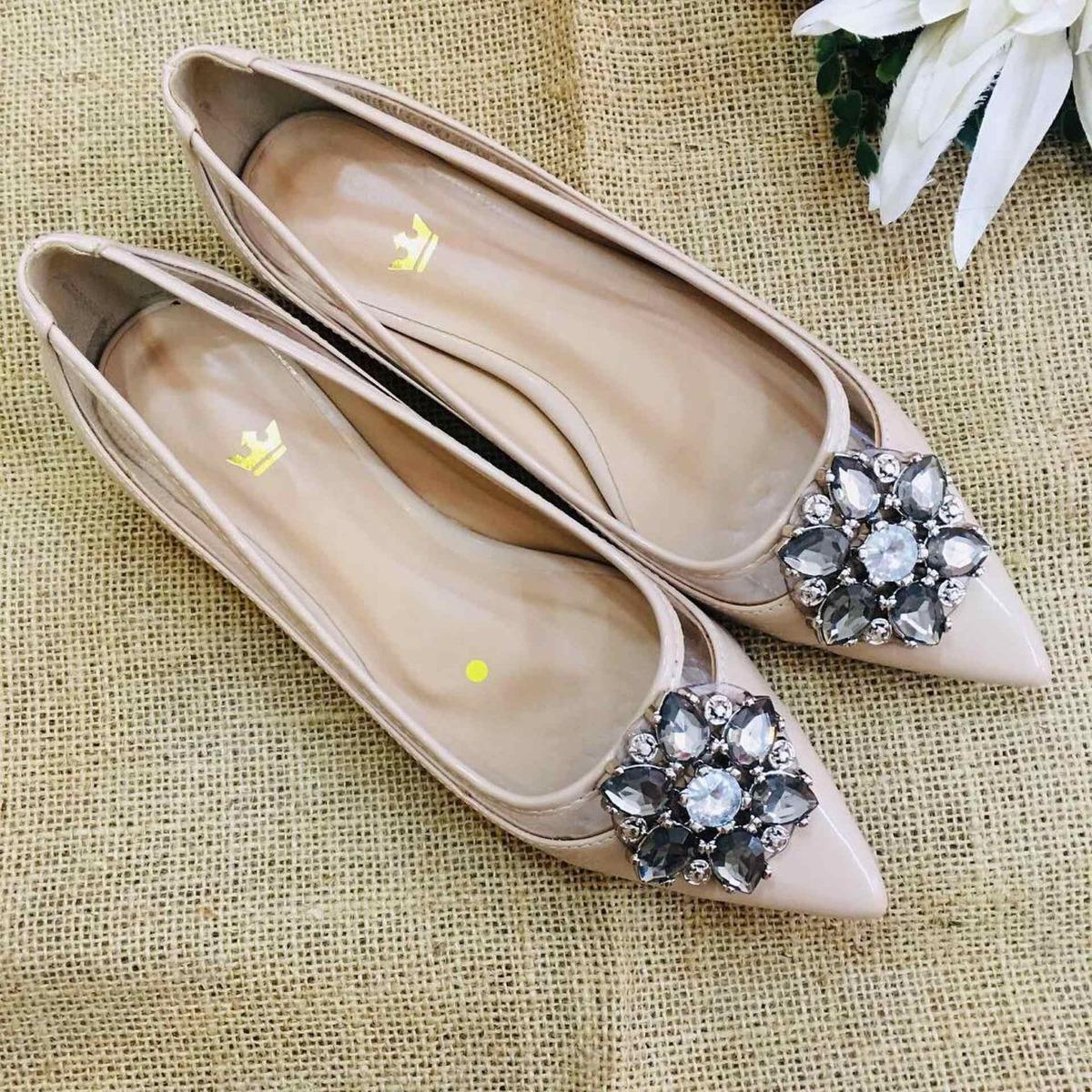 e4c8d3e97d sapatilha pedraria luxo confort feminina- bico fino sapatos. Carregando zoom .
