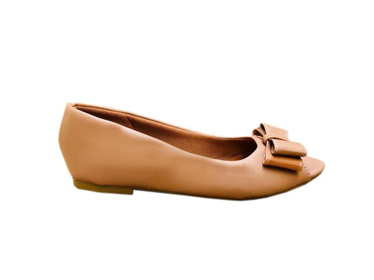 aadb1867fd sapatilha peep toe feminina rasteirinha bico fino confort. Carregando zoom.