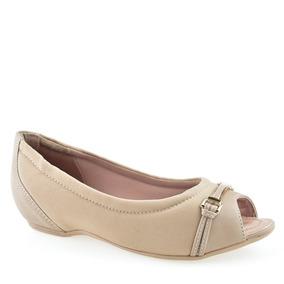 f8d4d3192 Sapatilha Luart Feminino Peep Toe Comfortflex - Sapatos com o ...