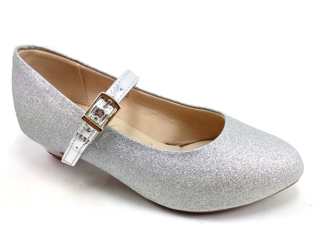 0107f2ae1e sapatilha prata infantil molekinha glamuor salto e glitter. Carregando zoom.