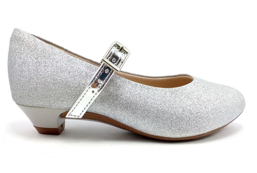 2d5905982c sapatilha prata infantil molekinha glamuor salto e glitter. Carregando zoom.
