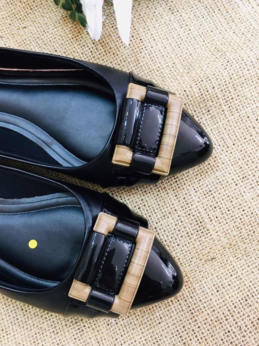 a37a6180e4 sapatilha preta luxo palmilha confort- sapatos femininos. Carregando zoom.