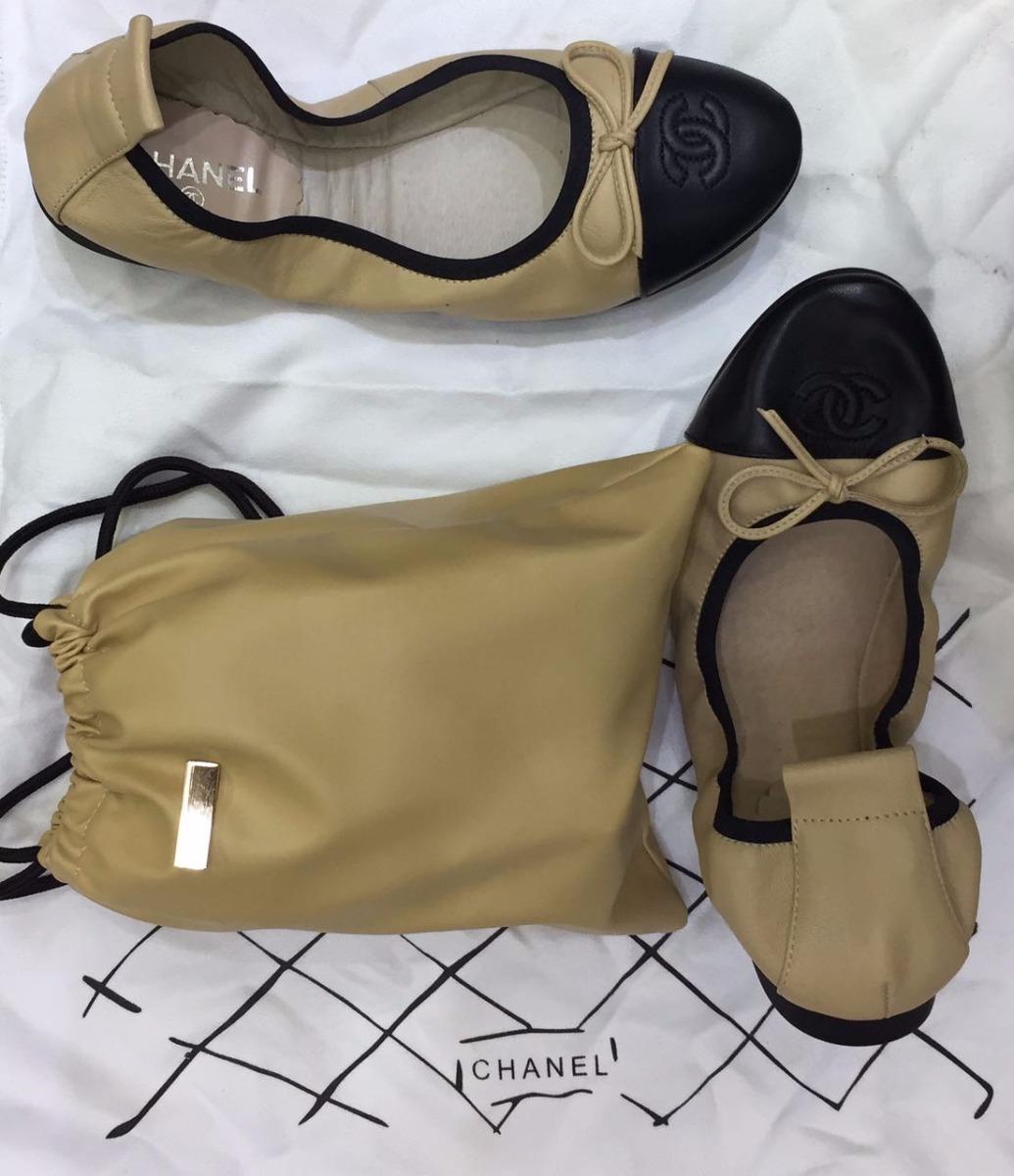 d1ddf146af6 sapatilha sapato calçado bailarina clássica da chanel nude. Carregando zoom.