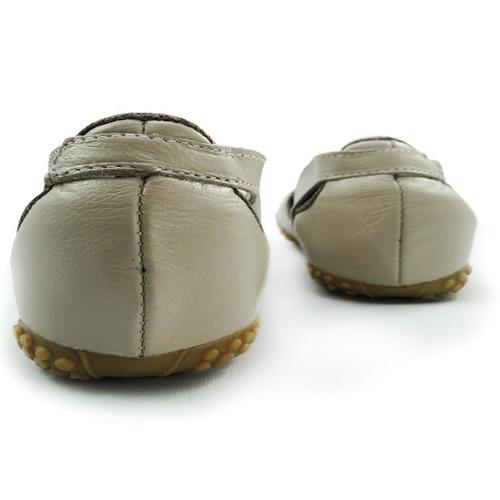 sapatilha s&c couro comfort bege / pta velha 54145-38