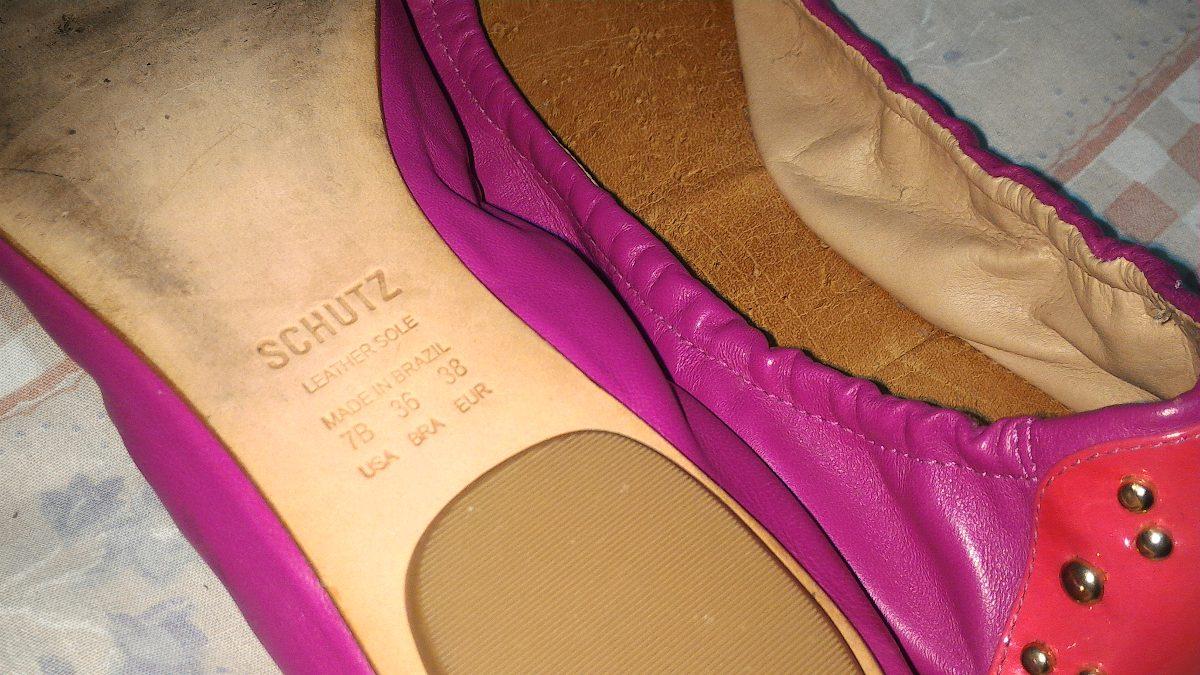2022a0aec Sapatilha Schutz Couro Rosa Pink Com Spikes 36 - R$ 79,90 em Mercado ...
