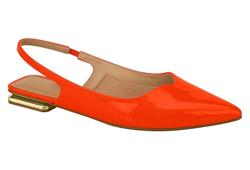 766c793451 sapatilha slingback feminina vizzano verniz laranja 1301100. Carregando  zoom.