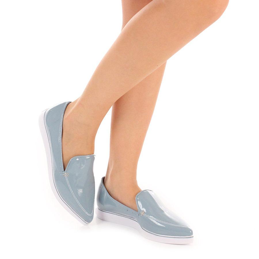 dc2effa21 Sapatilha Slipper Feminina Azaleia - Azul - R$ 79,99 em Mercado Livre