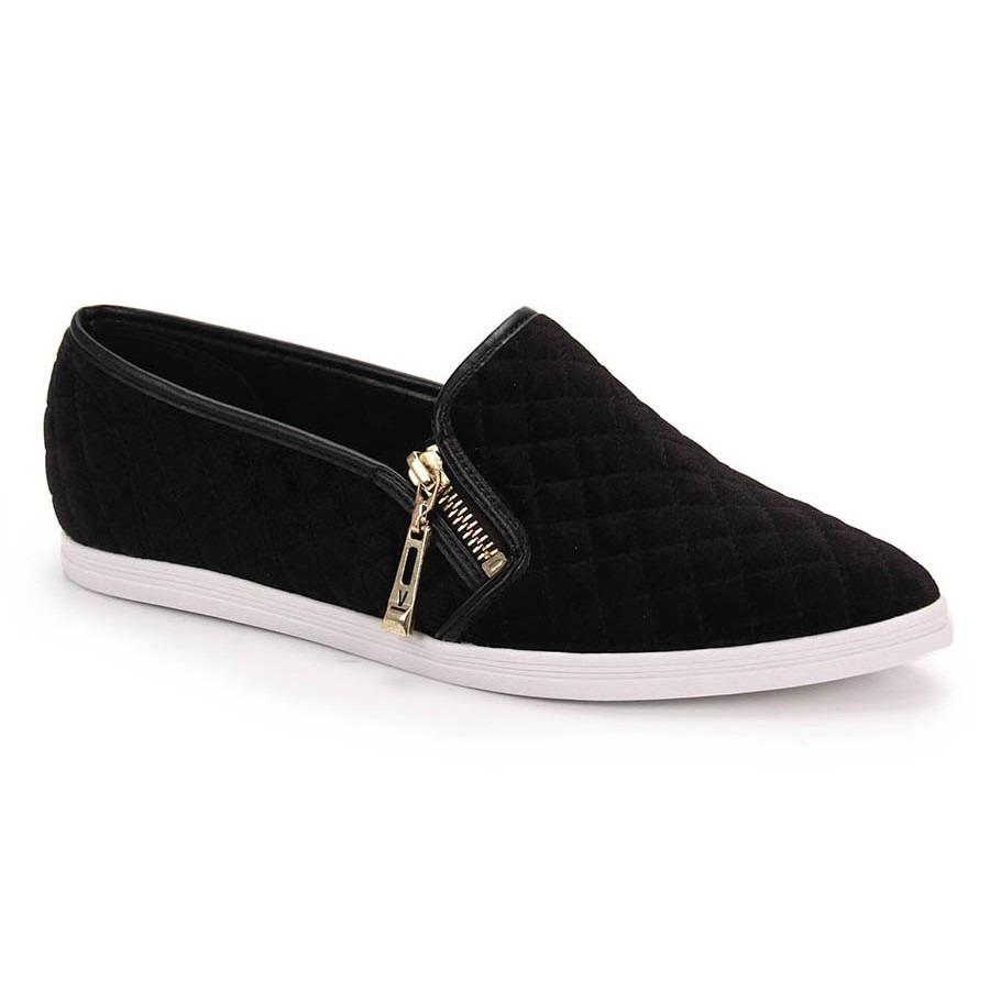 4a2605459 sapatilha slipper feminina com ziper vizzano 1243.102. Carregando zoom.