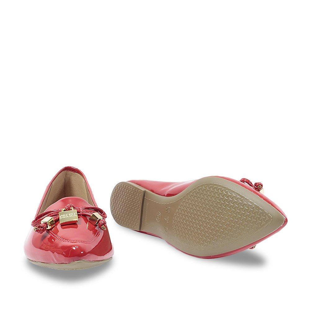 f18d90ffda1 sapatilha sua cia bico fino feminino vermelho verniz 8002. Carregando zoom.