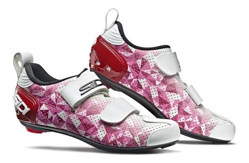 sapatilha triathlon sidi t5 air  woman branca/rosa 2020