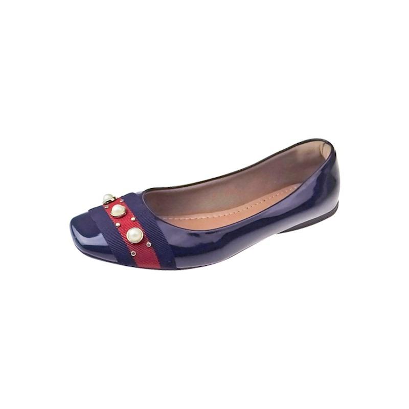 9ecaea2c89 sapatilha verniz com tira e pérola - azul. Carregando zoom.