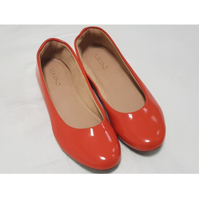90c1cfa637 Sapatilha Vermelha Verniz Feminino Sapatilhas Via Uno - Sapatos no ...