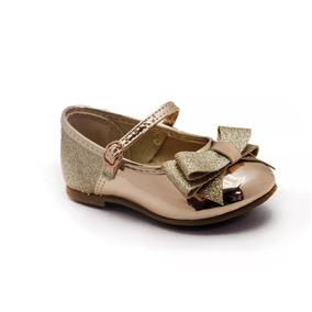 aa133fba5 Sapato Molekinha Baby Ouro/rosado 2106176 Calçados Bola7