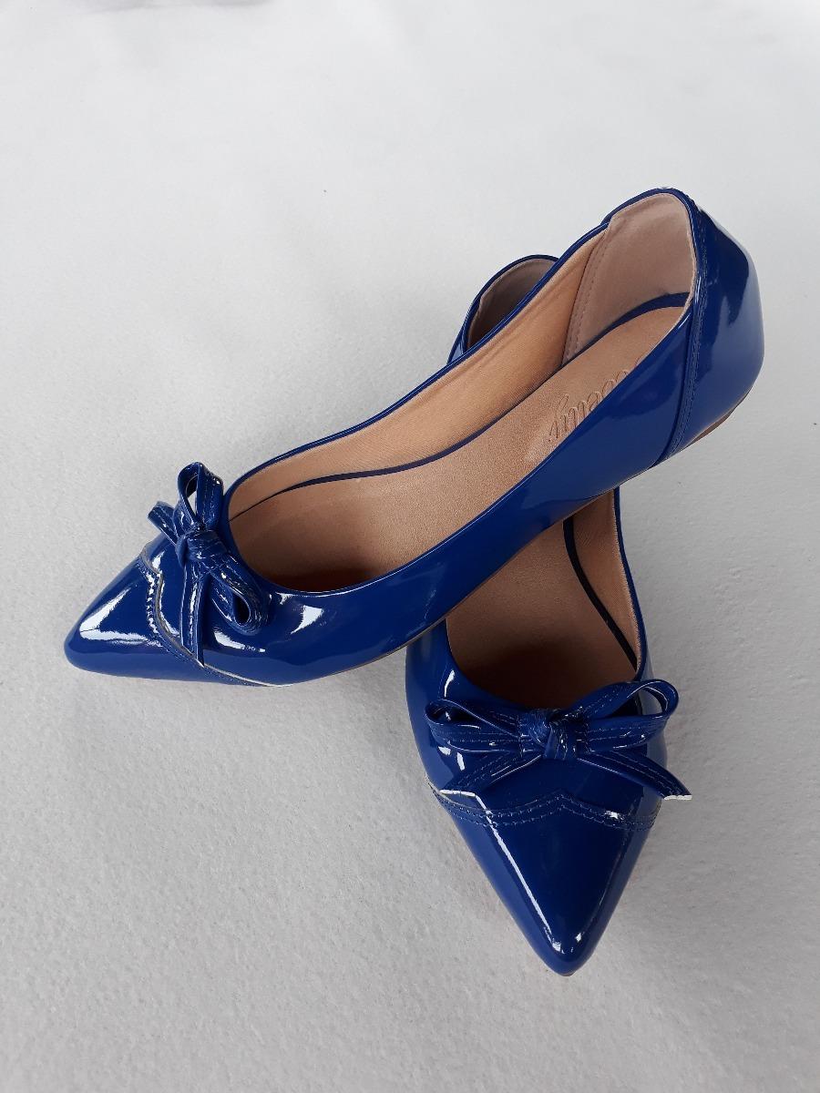 b96292247a sapatilhas feminina 2018 verniz azul !!! Carregando zoom.