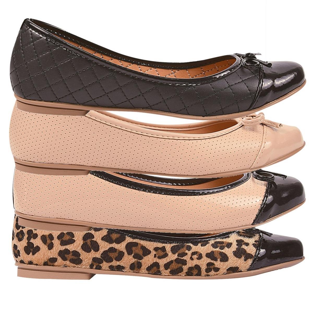 e9d288d65 sapatilhas kit 02 pares femininas bico fino rasteiras c1560p. Carregando  zoom.