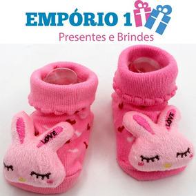 54b81267a0 Meia Sapatinho Com Cara De Bichinho - Bebês no Mercado Livre Brasil