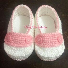 6732fc44b6 Sapatinho Para Bebe Em Crochê Mocassim no Mercado Livre Brasil
