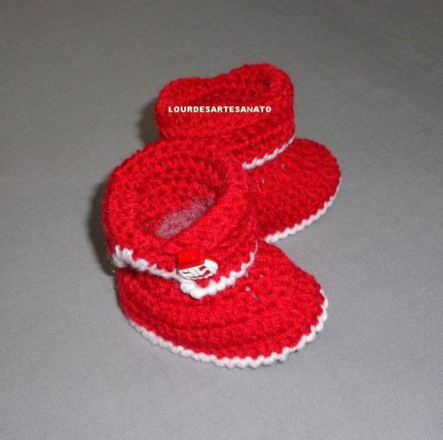 sapatinho de lã em croche