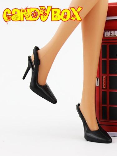 sapatinho de luxo para boneca barbie : sapato preto clássico