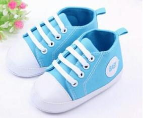 ef6d5f26cf890 Sapatinho Para Bebê Primeiro Passos Azul / Pronta Entrega. R$ 24 45