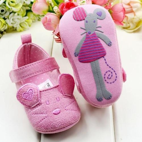 sapatinho para bebê ratinha rosa -produto importado